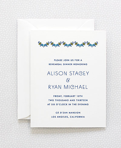 Paisley Rehearsal Dinner Invitation
