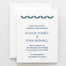 Paisley: Letterpress Rehearsal Dinner Invitation