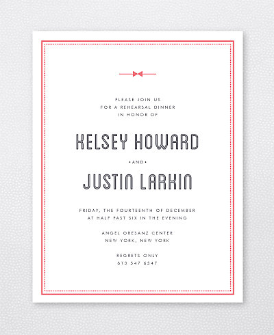 Parker Rehearsal Dinner Invitation