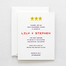 Pixel Perfect: Rehearsal Dinner Invitation