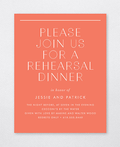 Pop Deco Rehearsal Dinner Invitation