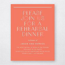 Pop Deco: Rehearsal Dinner Invitation