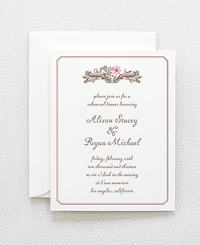 Provence Rehearsal Dinner Invitation
