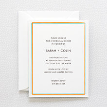 Rolling Acres: Rehearsal Dinner Invitation