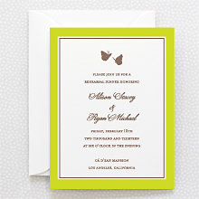 Shangri-la: Letterpress Rehearsal Dinner Invitation