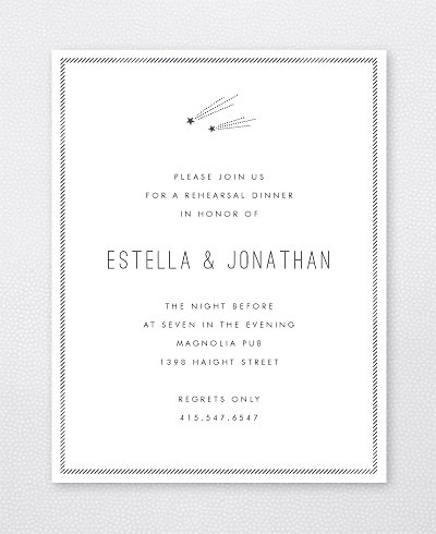 Shooting Star Rehearsal Dinner Invitation