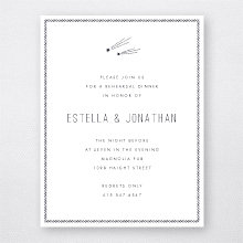 Shooting Star: Rehearsal Dinner Invitation