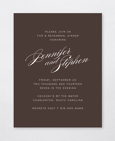 Symphony Rehearsal Dinner Invitation