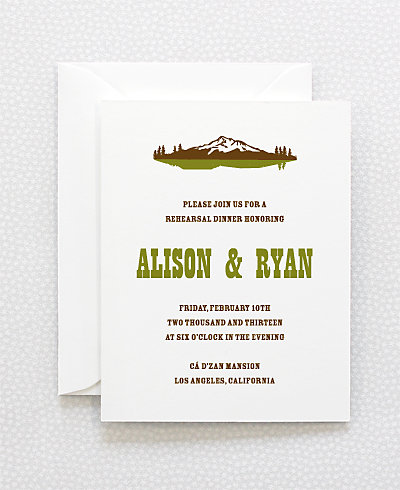 Tahoe Rehearsal Dinner Invitation