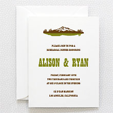 Tahoe - Letterpress Rehearsal Dinner Invitation