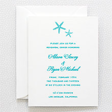 Tides: Letterpress Rehearsal Dinner Invitation
