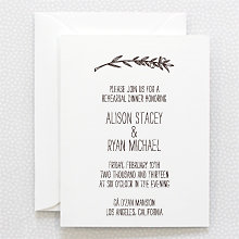 Tuscany: Letterpress Rehearsal Dinner Invitation