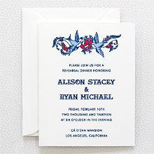 Vintage Tattoo: Rehearsal Dinner Invitation