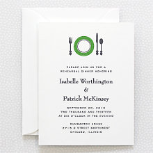 Visit Chicago: Letterpress Rehearsal Dinner Invitation