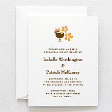 Visit Hawaii: Letterpress Rehearsal Dinner Invitation