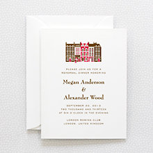 Visit London - Letterpress Rehearsal Dinner Invitation