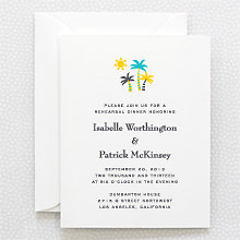 Visit Los Angeles: Letterpress Rehearsal Dinner Invitation