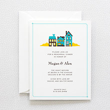 Visit Martha's Vineyard---Letterpress Rehearsal Dinner Invitation