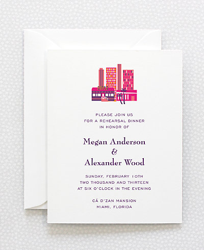 Visit Miami Rehearsal Dinner Invitation