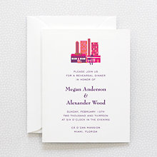 Visit Miami---Rehearsal Dinner Invitation