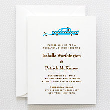 Visit New York - Letterpress Rehearsal Dinner Invitation