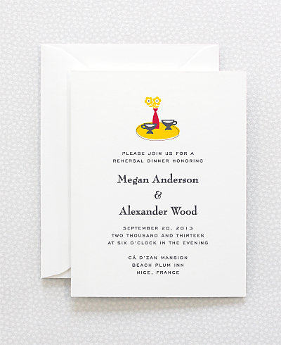 Visit the Riviera Rehearsal Dinner Invitation