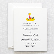 Visit the Riviera---Rehearsal Dinner Invitation