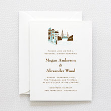 Visit San Francisco - Letterpress Rehearsal Dinner Invitation