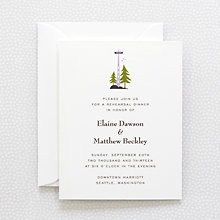 Visit Seattle - Letterpress Rehearsal Dinner Invitation