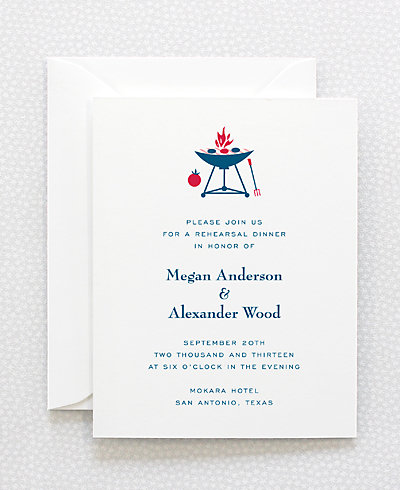 Visit Texas Rehearsal Dinner Invitation