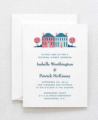 Visit Washington, D.C. Rehearsal Dinner Invitation
