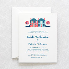 Visit Washington, D.C.: Letterpress Rehearsal Dinner Invitation