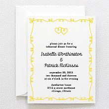 Whimsy---Letterpress Rehearsal Dinner Invitation