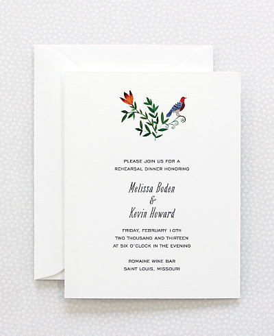 Wildflowers Rehearsal Dinner Invitation