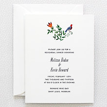 Wildflowers---Rehearsal Dinner Invitation