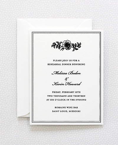 Wildwood Rehearsal Dinner Invitation