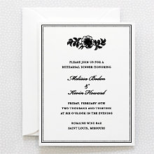 Wildwood: Letterpress Rehearsal Dinner Invitation