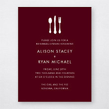 Wine Country Skyline---Rehearsal Dinner Invitation