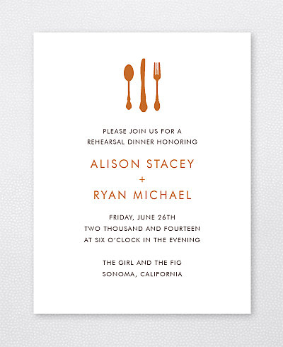 Wine Country Skyline Rehearsal Dinner Invitation