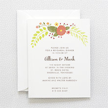 Flora and Fauna: Rehearsal Dinner Invitation