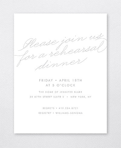 Atlantic Foil/Letterpress Rehearsal Dinner Invitation