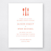 Austin Skyline: Letterpress Rehearsal Dinner Invitation