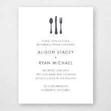 Edinburgh Skyline: Letterpress Rehearsal Dinner Invitation