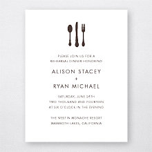 Mountain Skyline - Letterpress Rehearsal Dinner Invitation