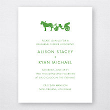 New Orleans Skyline: Letterpress Rehearsal Dinner Invitation