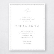 Shooting Star: Foil/Letterpress Rehearsal Dinner Invitation