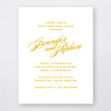 Symphony: Foil/Letterpress Rehearsal Dinner Invitation