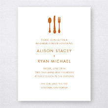 Wine Country Skyline: Letterpress Rehearsal Dinner Invitation