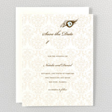 Antoinette: Letterpress Save the Date
