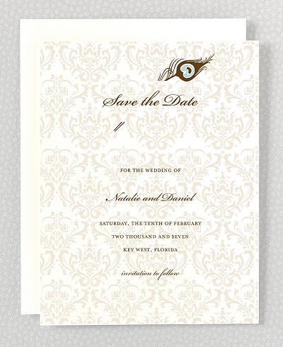 Antoinette Letterpress Save the Date Card